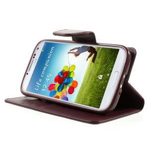 Diary PU kožené pouzdro na mobil Samsung Galaxy S4 - vínové - 4