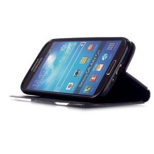 Knížkové koženkové pouzdro na Samsung Galaxy S4 - dívka - 4