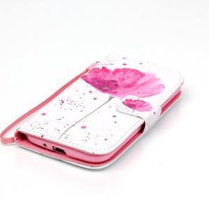 Knížkové koženkové puzdro pre Samsung Galaxy S4 - flower - 4