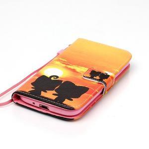 Knížkové koženkové puzdro pre Samsung Galaxy S4 - sunrise - 4