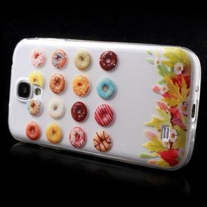 Slim gélový obal pre mobil Samsung Galaxy S4 - donuts - 4