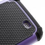 Outdoor odolný silikonový obal pre Samsung Galaxy S4 - fialový - 4/5