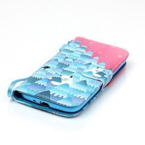 Knížkové koženkové pouzdro na Samsung Galaxy S4 - snowman - 4