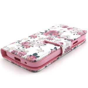 Puzdro pre mobil Samsung Galaxy S4 mini - kvety - 4