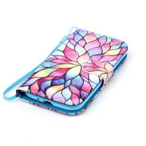 Diary peňaženkové puzdro pre mobil Samsung Galaxy S4 mini - farebné lístky - 4