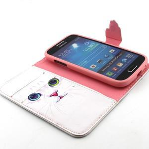 Diaryleather pouzdro na mobil Samsung Galaxy S4 mini - kočička - 4