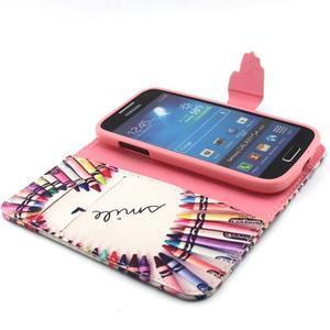 Diaryleather puzdro pre mobil Samsung Galaxy S4 mini - smile - 4