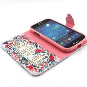 Diaryleather puzdro pre mobil Samsung Galaxy S4 mini - Shakespeare - 4