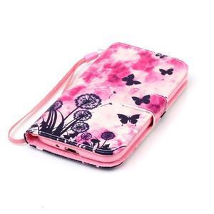 Diary peněženkové pouzdro na mobil Samsung Galaxy S4 mini - motýlci - 4