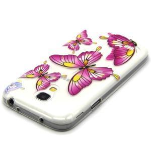 Transparentní gelový obal na Samsung Galaxy S4 mini - motýlci - 4
