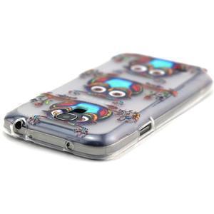 Transparentný gélový obal pre Samsung Galaxy S4 mini - sovičky - 4
