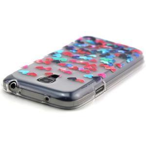Transparentní gelový obal na Samsung Galaxy S4 mini - srdíčka - 4