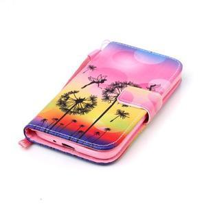Diary peňaženkové puzdro pre mobil Samsung Galaxy S4 mini - púpavy - 4
