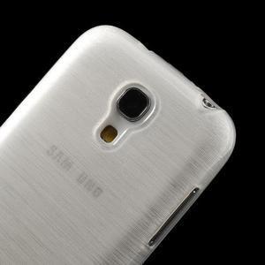 Brushed gelový obal na mobil Samsung Galaxy S4 mini - bílý - 4