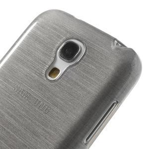 Brushed gelový obal na mobil Samsung Galaxy S4 mini - šedý - 4