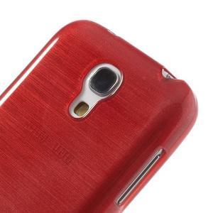 Brushed gélový obal pre mobil Samsung Galaxy S4 mini - červený - 4