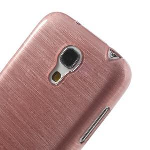 Brushed gelový obal na mobil Samsung Galaxy S4 mini - růžový - 4