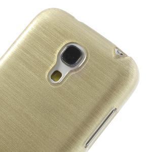 Brushed gélový obal pre mobil Samsung Galaxy S4 mini - zlatý - 4