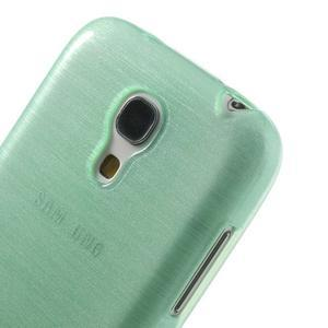 Brushed gélový obal pre mobil Samsung Galaxy S4 mini - azúrový - 4