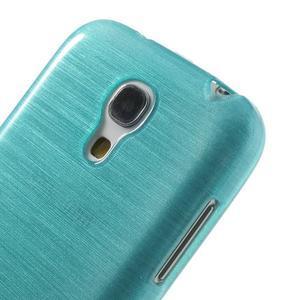 Brushed gélový obal pre mobil Samsung Galaxy S4 mini - modrý - 4