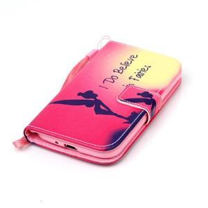 Diary peňaženkové puzdro pre mobil Samsung Galaxy S4 mini - víla - 4