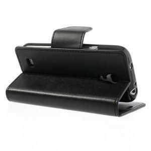 Sonata PU kožené pouzdro na mobil Samsung Galaxy S4 mini - černé - 4