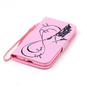 Diary peňaženkové puzdro pre mobil Samsung Galaxy S4 mini - love - 4
