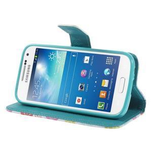Style peňaženkové puzdro pre Samsung Galaxy S4 mini - kvetinky - 4