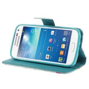 Style peňaženkové puzdro pre Samsung Galaxy S4 mini - kvietky - 4