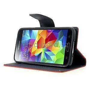 Diary peňaženkové puzdro pre Samsung Galaxy S5 - červené - 4