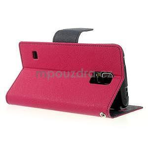 Diary peňaženkové puzdro pre Samsung Galaxy S5 - rose - 4