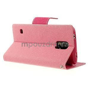 Diary peněženkové pouzdro na Samsung Galaxy S5 - růžové - 4