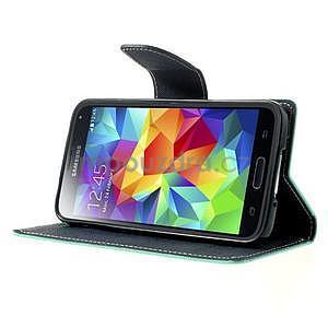 Diary peněženkové pouzdro na Samsung Galaxy S5 - azurové - 4