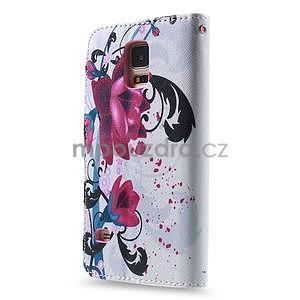 Ochranné puzdro pre mobil Samsung Galaxy S5 - kvety - 4