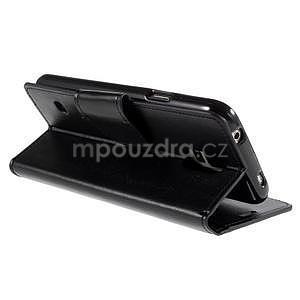 Elegantní peněženkové pouzdro na Samsung Galaxy S5 - černé - 4