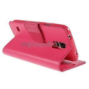 Elegantní peněženkové pouzdro na Samsung Galaxy S5 - rose - 4