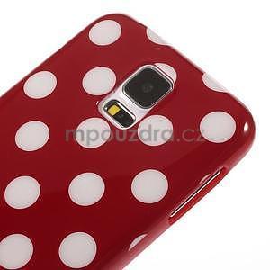 Puntíkovaný gélový kryt pre Samsung Galaxy S5 - červený - 4