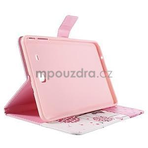 Ochranné koženkové puzdro na Samsung Galaxy Tab E 9.6 - dievča & púpavy - 4