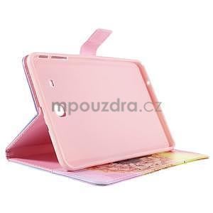 Ochranné koženkové puzdro na Samsung Galaxy Tab E 9.6 - oranžové púpavy - 4