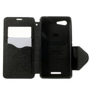 Peňaženkové puzdro s okienkom na Sony Xperia E3 - čierne - 4