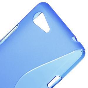 S-line gélový obal pre Sony Xperia E3 - modrý - 4