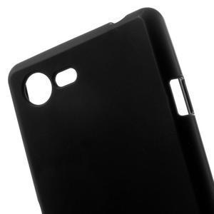 Matný gélový obal pre mobil Sony Xperia E3 - čierny - 4