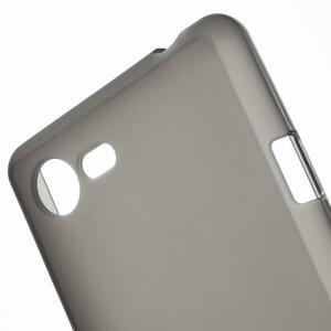 Matný gélový obal pre mobil Sony Xperia E3 - sivý - 4