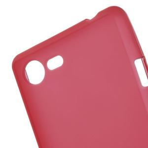 Matný gélový obal pre mobil Sony Xperia E3 - červený - 4