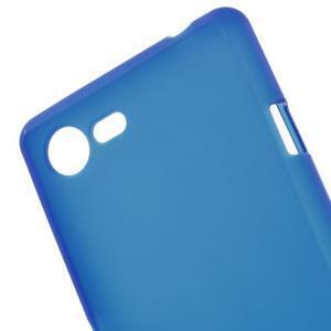 Matný gelový obal na mobil Sony Xperia E3 - modrý - 4
