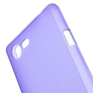 Matný gélový obal pre mobil Sony Xperia E3 - fialový - 4
