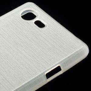 Brushed gélový obal pre mobil Sony Xperia E3 - biely - 4