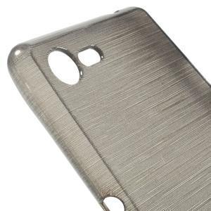 Brushed gélový obal pre mobil Sony Xperia E3 - sivý - 4