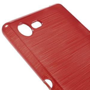 Brushed gélový obal pre mobil Sony Xperia E3 - červený - 4