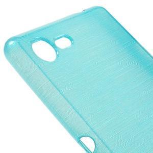 Brushed gélový obal pre mobil Sony Xperia E3 - modrý - 4
